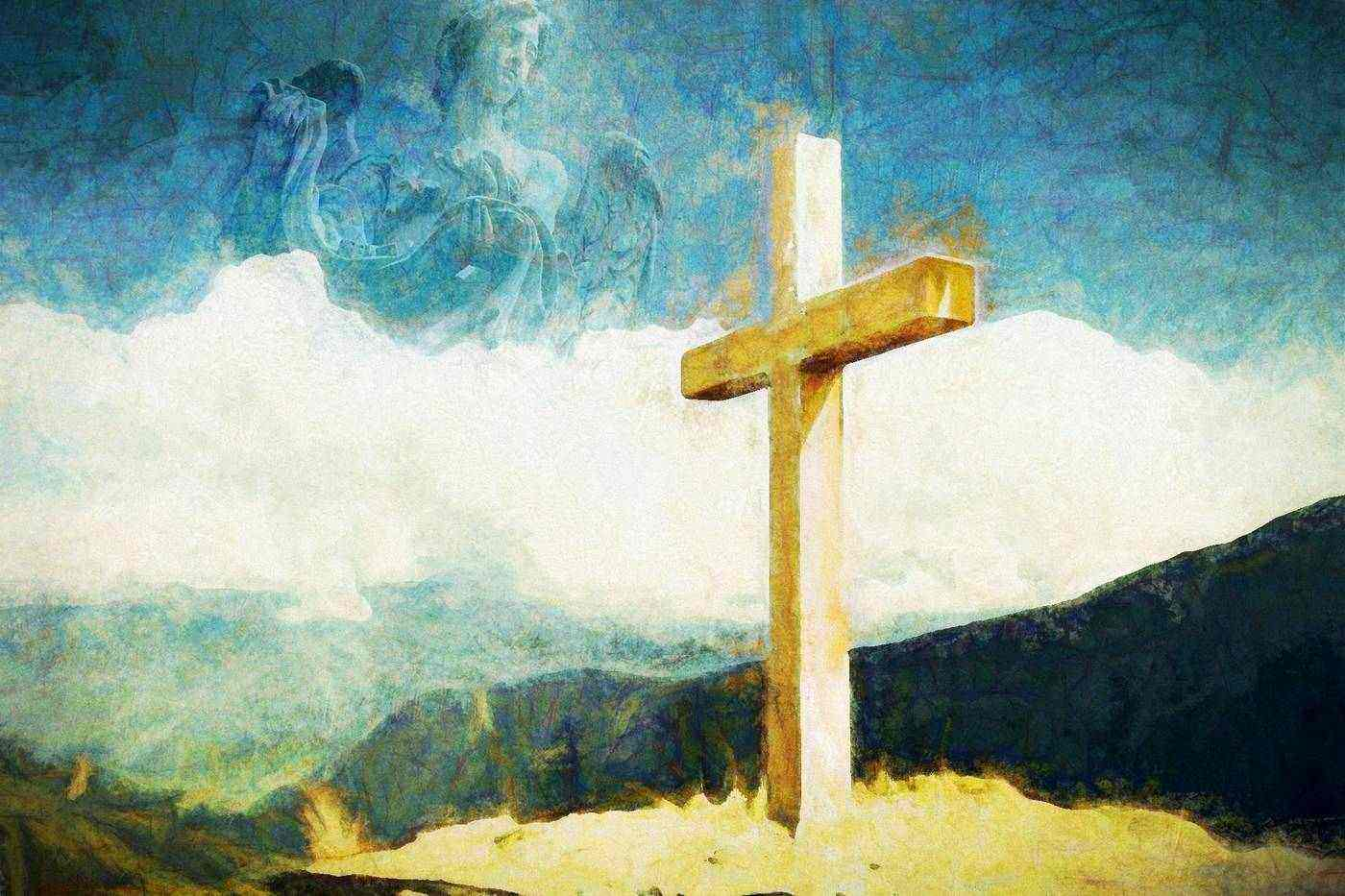 Illustration of Jesus and cross